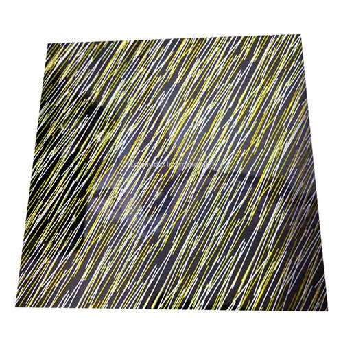 Yellow & White Zig Zag Lines  sheet