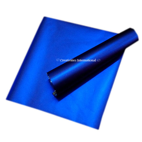 Blue matt finish wrapping paper