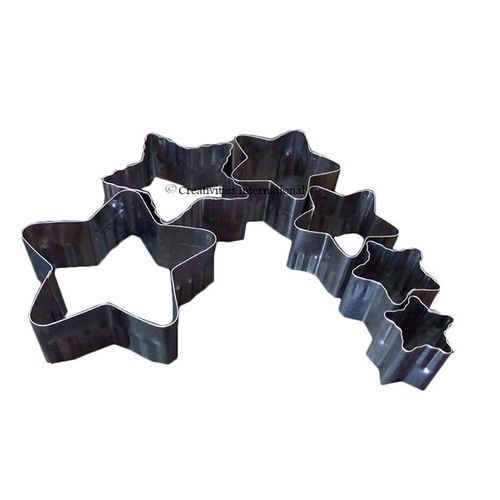 Star double cut-outs set cookie cutter