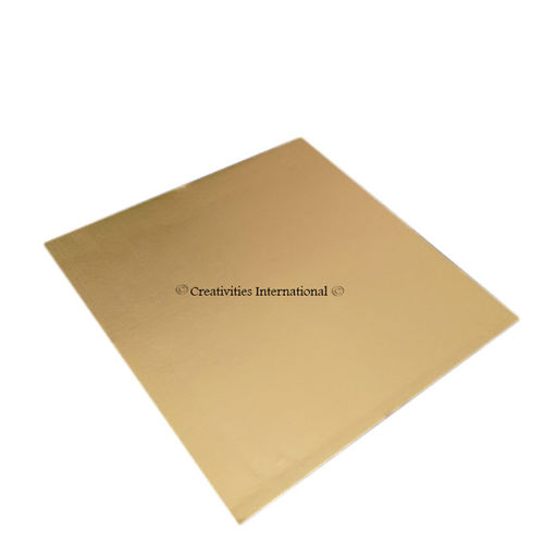 Gold Square Cake Board 10 Inch