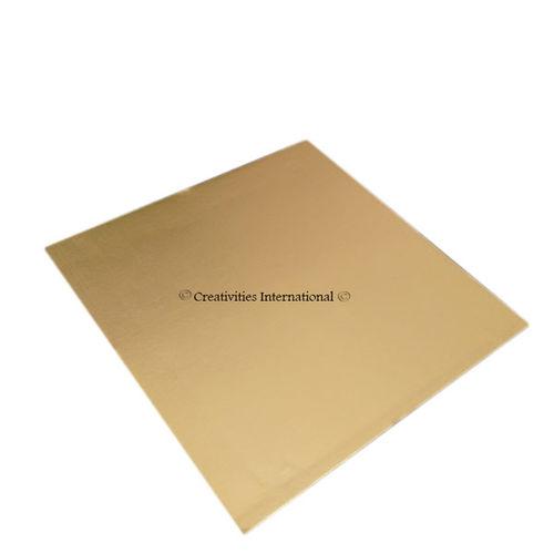 Gold Square Cake Board 8 Inch