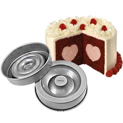 Aluminium cake pan   Heart filling shape set