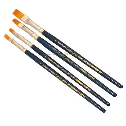 Professional Cakes Faber Castells brush sets of 4 Flat tips