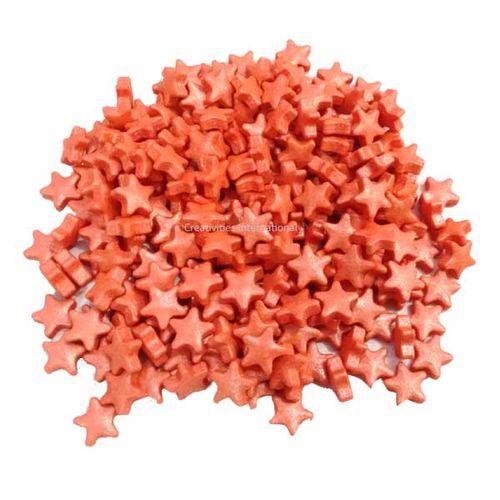 Star Peach Colour Sprinkle (1cm)