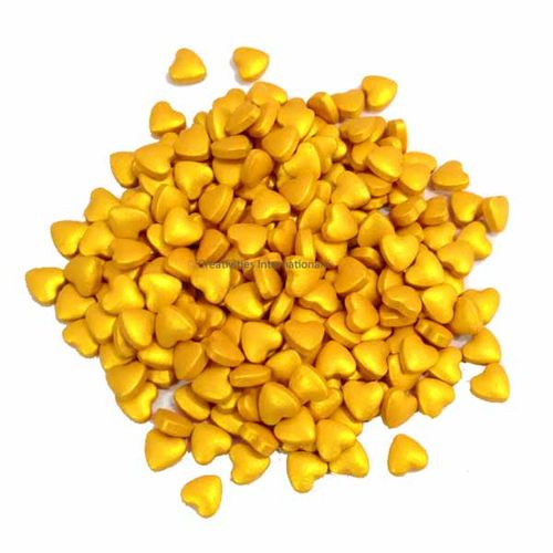Golden Heart Sprinkles (1cm)