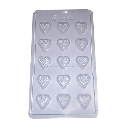 Plastic Double Heart Chocolate Candy Mold