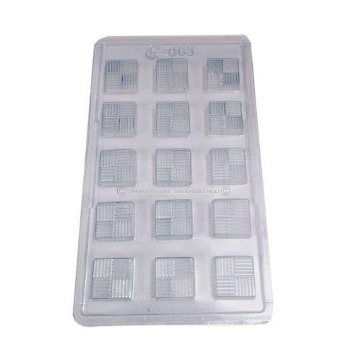 Texture Square Plastic Chocolate Mold
