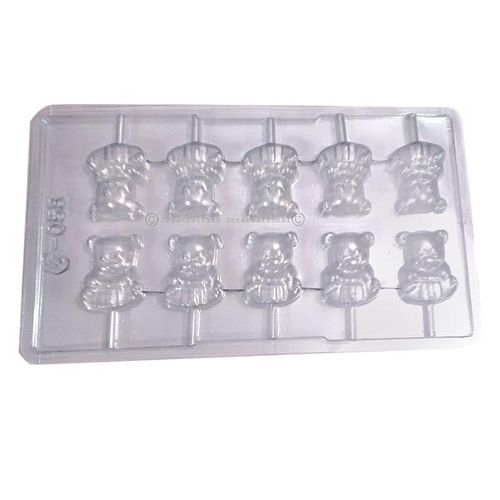 Teddy Bear Lollypop chocolate Mould