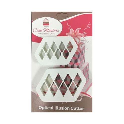 Optical Illusion Cutter Diamond Shape