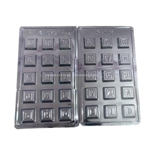 Alphabet Plastic Chocolate Mould ( Set of 2 )