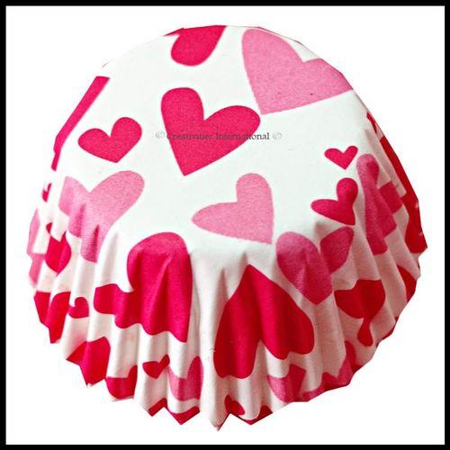 Cupcake Liners Heart Design_11 cm