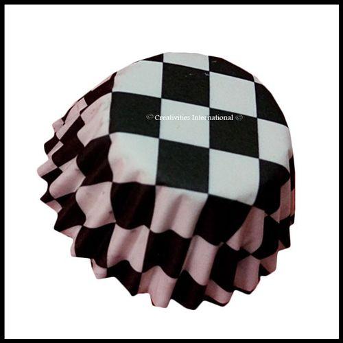 Chocolate Liners Black Checker Board _7 cm