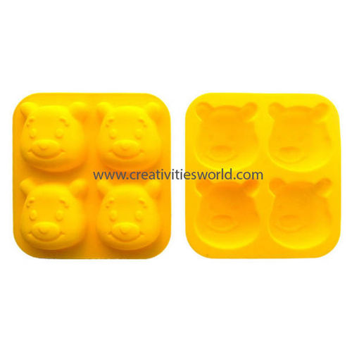 4 Cavity Pooh Muffin mould