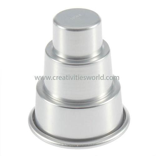 Mini 3 tier Aluminium Cup Cake Pan