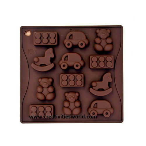 Teddy shape chocolate mould
