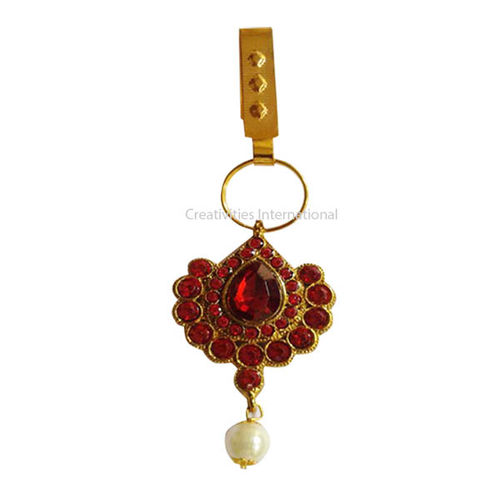 Fancy Red Stone Hanging Brooch