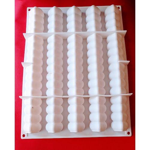 5 Modular Flex Log Entremet Silicone Mould