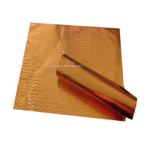Gold Chevron Metallic Wrapping paper