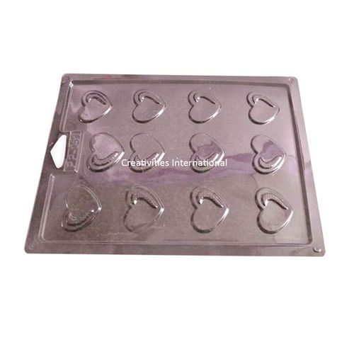 HEART PVC THIN CHOCOLATE GARNISHING MAT