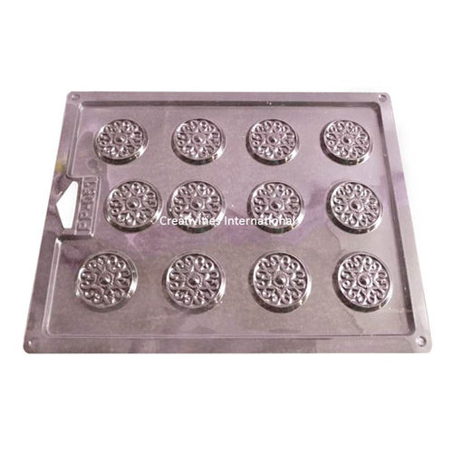 RANGOLI DESIGN PVC THIN CHOCOLATE GARNISHING MAT