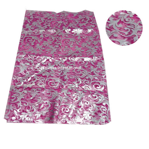 self print pink color tissue sheet
