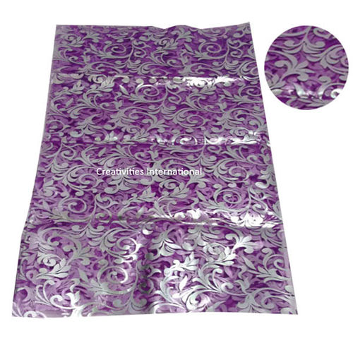 Self Print Violet color tissue sheet