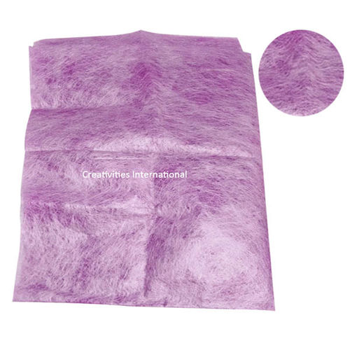 Violet color jute material tissue sheet