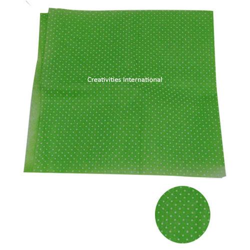 Green color polka dot tissue sheet