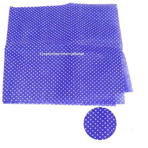 Purple color polka dot tissue sheet