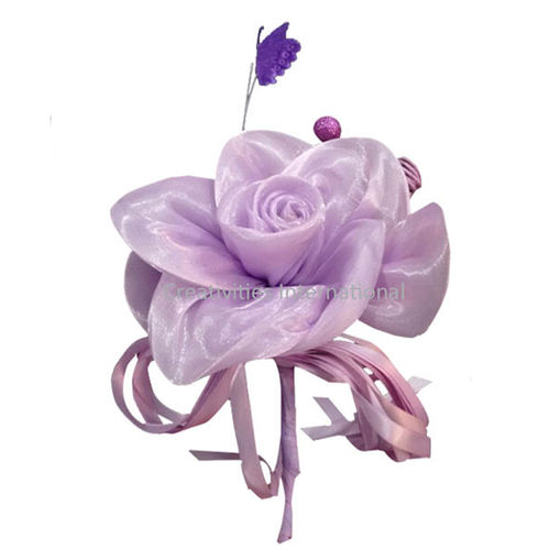 Purple Rose   Butterfly Satin Flower