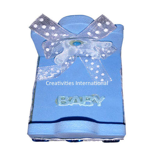Decorative Blue Baby Bed