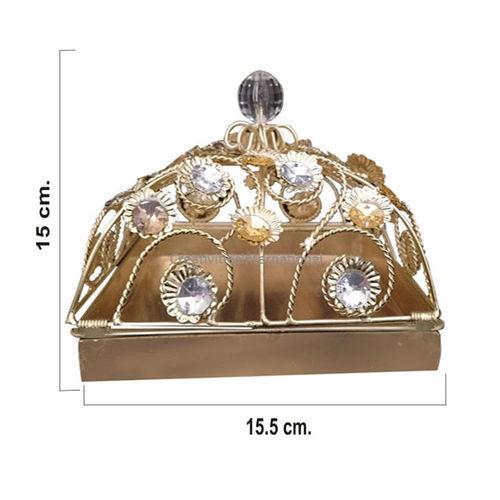 Metallic Square  Shape  Box  (Small)