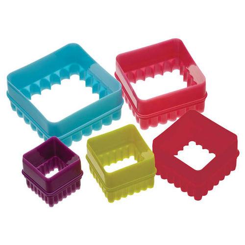 Multipurpose Acrylic Square frill cutter (5 in 1)