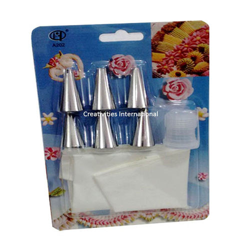 Set of nozzels and coupler with piping bags (small)