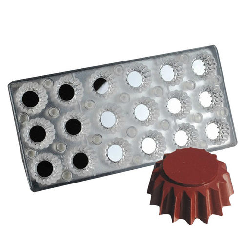 Magnetic chocolate mould Scalloped Round