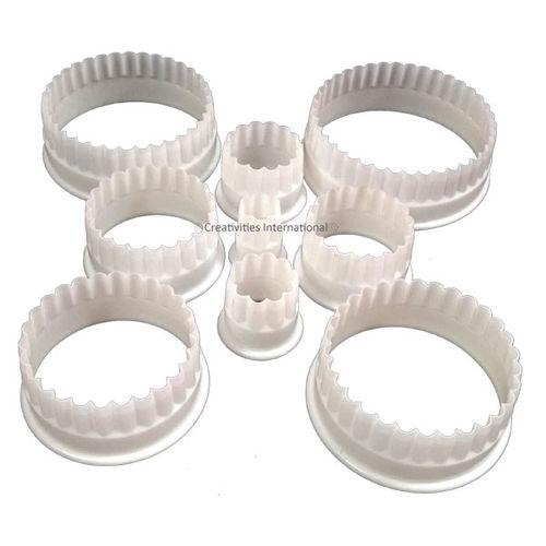 Circle Frill Cutter Set Heavy Plastic (Set of 9)