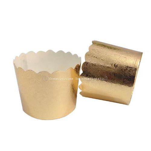 Designer Golden Cup Cake Liner