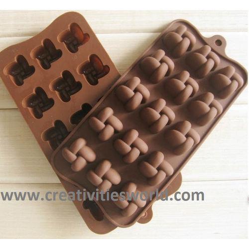 Fan shape chocolate mould