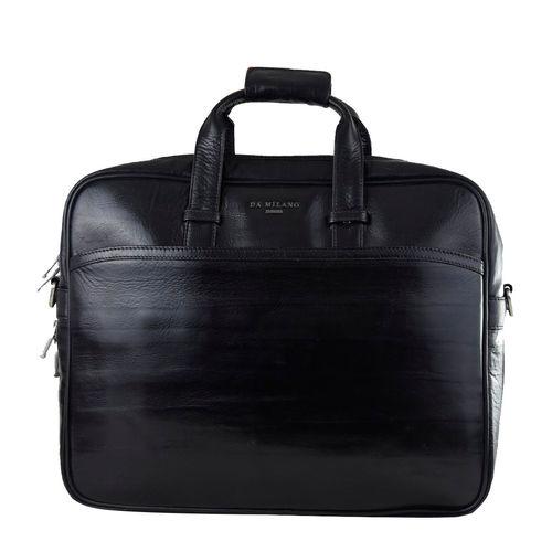 Da Milano Men's CB-6139B BLACK BAMBOO Computer Bag