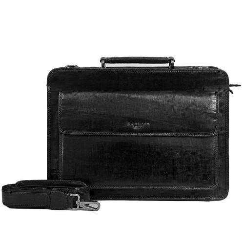 Da Milano Pf-1717 Black Matrix Leather Portfolio