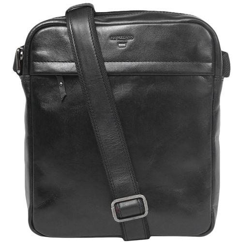 Da Milano Men's Sb-0015L Black Sling-Messenger Bag
