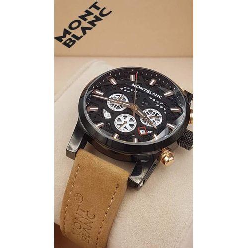 Replica Mont Blanc Leather Strap Luxury Watch Replica