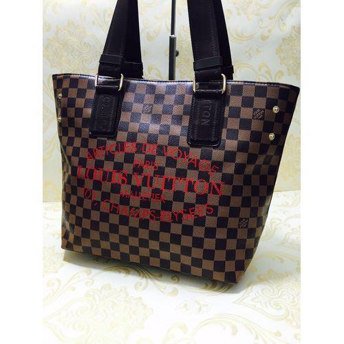 67d171048451 Replica Louis Vuitton Malletier Brown Check Handbag