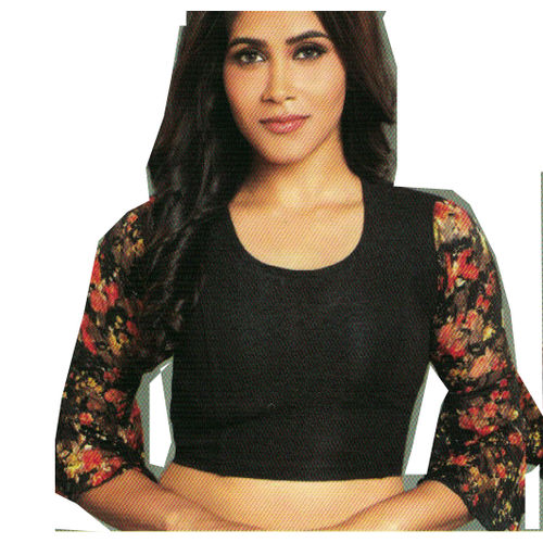 882d8f5ef4887 Home · STRETCHABLE BLACK NET LONG SLEEVE SAREE BLOUSE · Zoom. sold-out-image