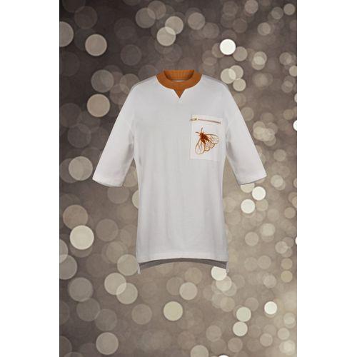 White Embroidered Sweatshirt