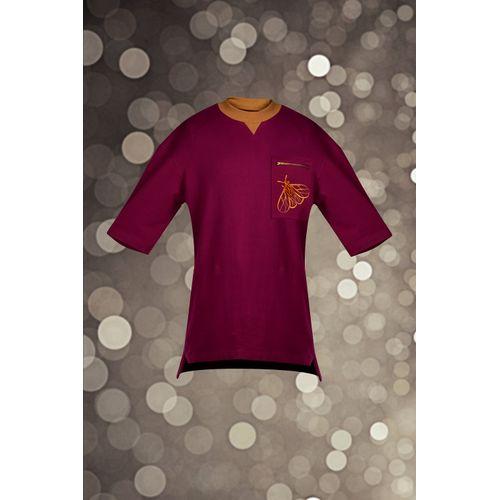 Fuchsia Embroidered Sweatshirt