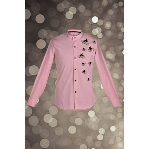 Pink Embroidered Shirt