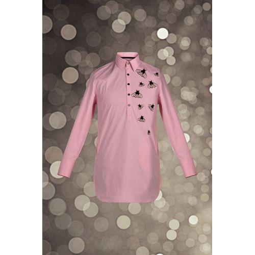 Pink Embroidered Kurta