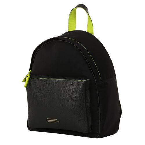 Unisex Nylon And Leather Backpack
