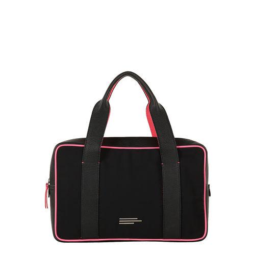 Unisex  Nylon And Leather Handbag